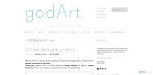 Cristina Jaen arte y ciencia godArt Lab